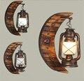 Американский кантри гостиная огни настенные светильники стиль старинные антикварные фонарь бра личность спальня ночники