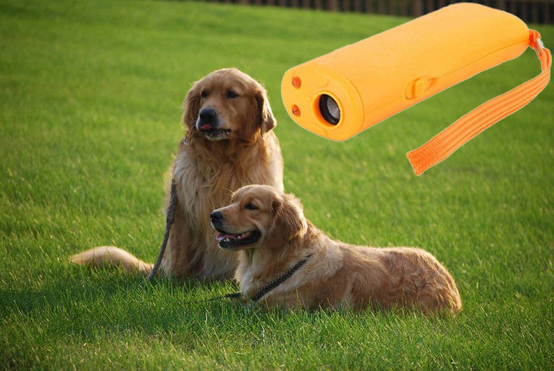 Pet Dog Repeller Anti Barking Training Device LED Ultrasonic 3 in 1 Stop Bark Trainer Without Battery10