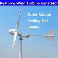 New Wind Generator 5000w Wind Turbine Free Energy Generator 220V 380V 3blades hydro generator for off grid on grid for home