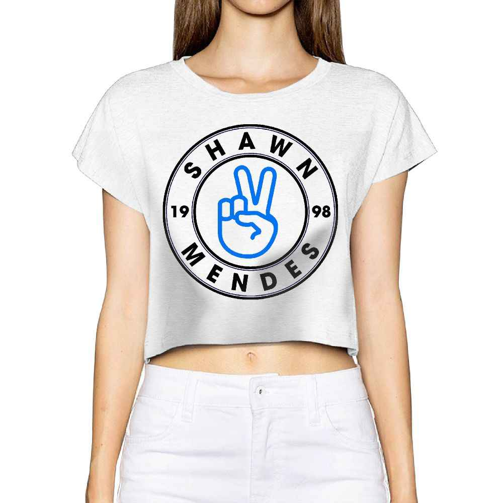 5ec9f5026 ... SAMCUSTOM Camisetas Real Short New Shawn Mendes 3D Summer Fashion  Street T Shirt Anarchy Bare midriff ...