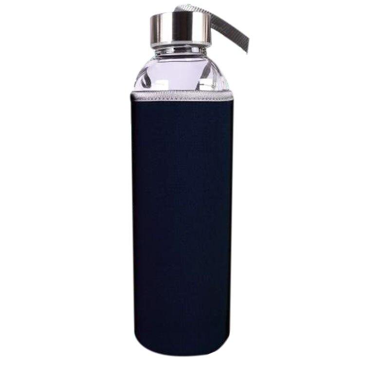 Nueva 550 ml Deporte Botella de Agua de La Salud de Cristal con Infusor Filtro d