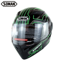 SOMAN 955 Double Visors Motorcycle Flip-Up Helmets Motorbike Capacete Racing Moto Cycling Motorcycle Full Face Helmet Casco