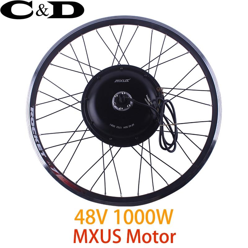 48V 1000W Motorized Wheel Direct Drive Hub Motor wheel MXUS Brand 20 24 26 27 5