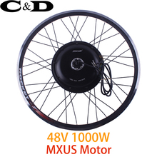 "48V 1000W Motorized Wheel Direct Drive Hub Motor wheel MXUS Brand 20"" 24"" 26"" 27.5"" 700C Optional XF39 30H XF40 30H"
