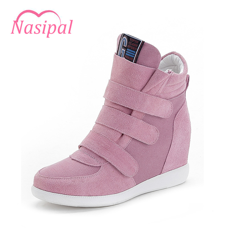 Nasipal Ankle Boots Women Casual Shoes Faux Suede Shoes For Women Increasing Flat Heel Size35-39 Boots Autumn Winter Shoes C079 black women boots flat heel casual