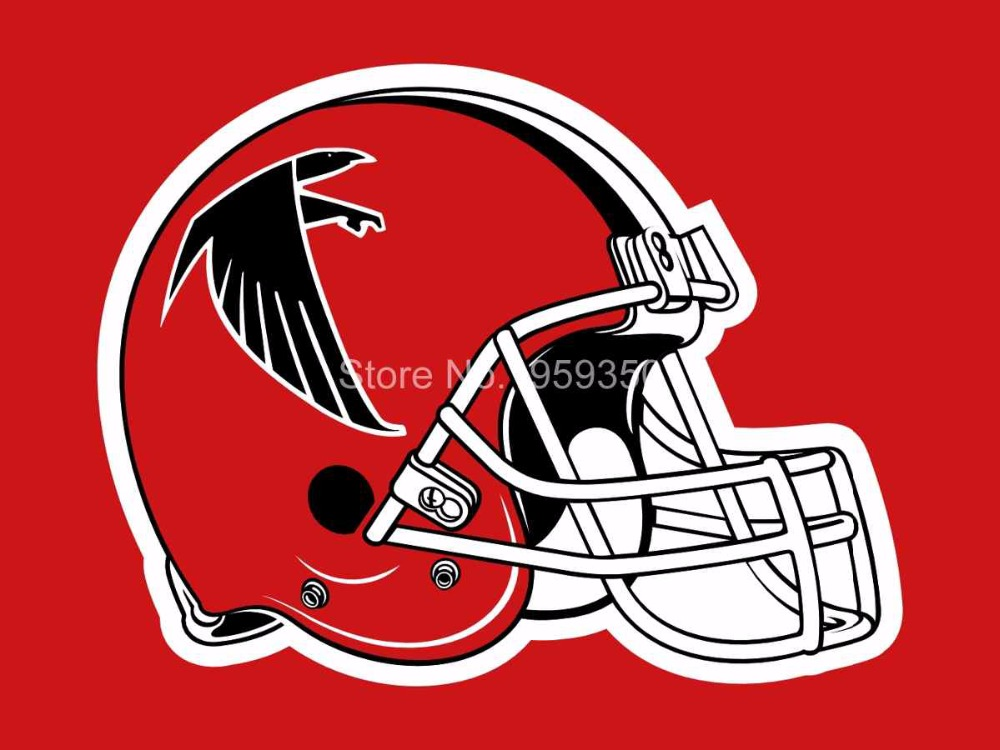 Atlanta Falcons 3' x 5' Team Helmet Field Flag