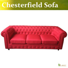 U BEST Classic New Chesterfield Sofa Real Genuine Leather Red 3 seater Interior Design clud sofa