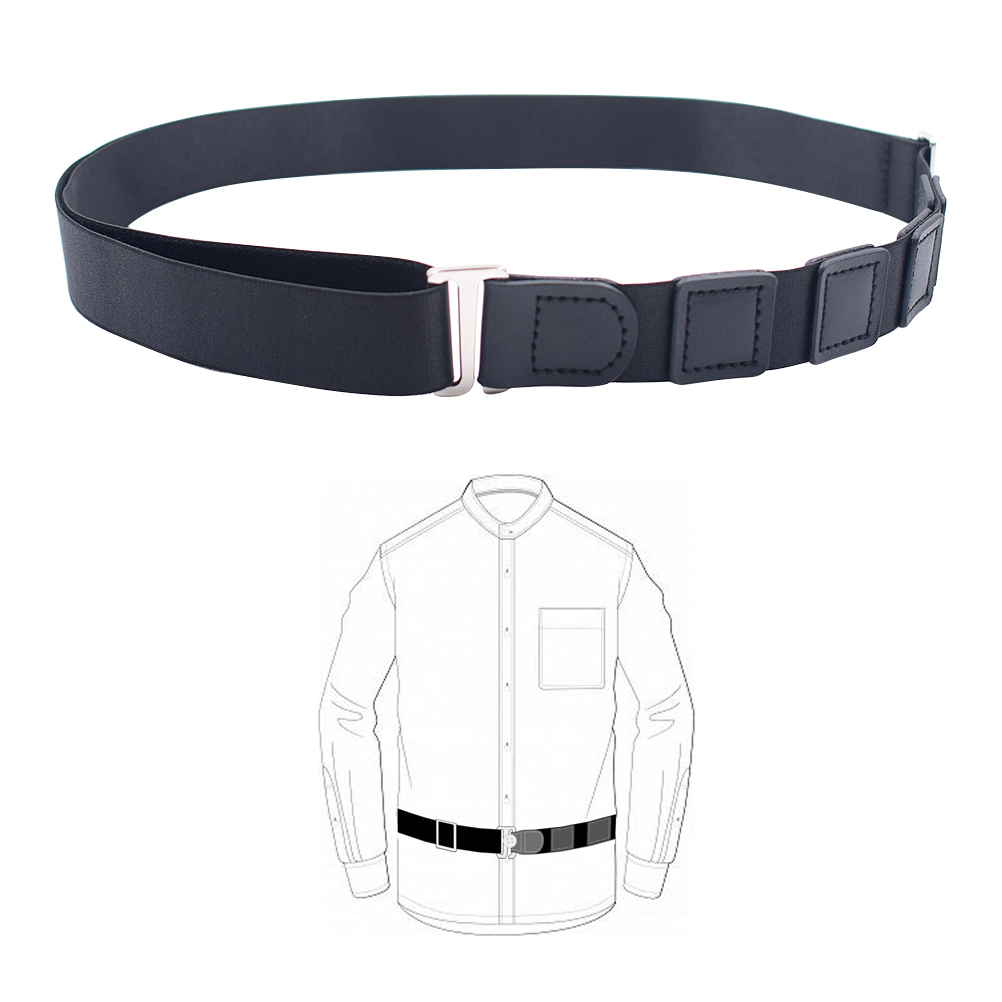 1Pcs Shirt Stay Lock Belt Stay Adjustable Shirt Lock Undergarment Belt for Men and Women Keeping Shirt Tucked In - 2.5CM