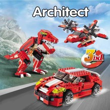 цены на Marvel City Architect 3 in 1 Creator Roaring Dinosaur Building Blocks Bricks Model Kids Toys Friends  в интернет-магазинах