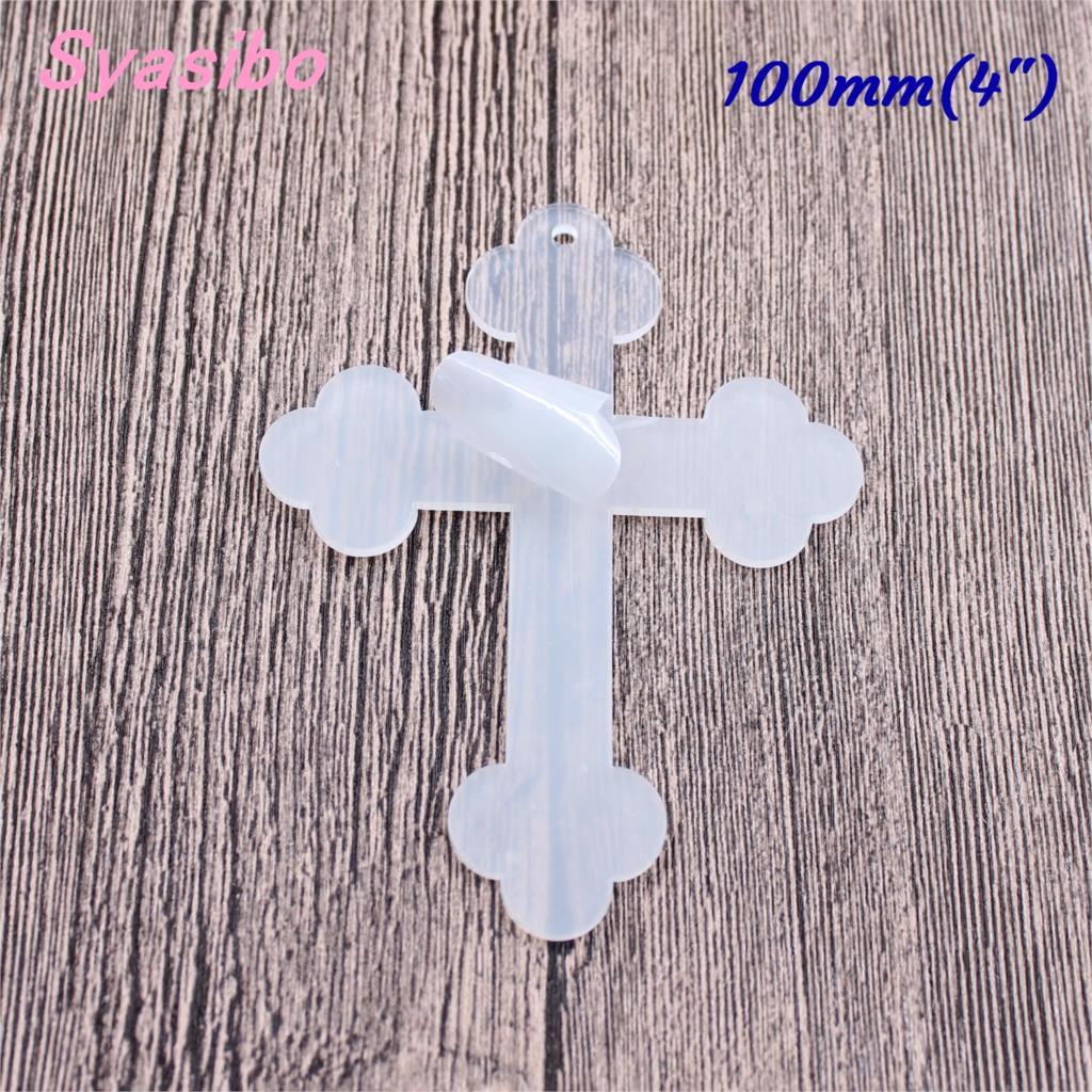 (3pcs)100mm Acrylic Keychain Jewelry Blank Clear Cross Keychain Cross Tags Halloween Party Gift Laser Cutout 4