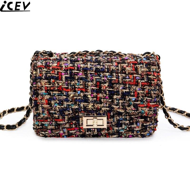 2018 Fashion Shoulder Handbag Linen Cloth Crossbody Bags Vintage Female Embroidery Messenger Bag Chain Strap Flap Dollar Prices Сумка