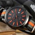 OCHSTIN Nova Marca de Moda Homem Ocasional Masculino Relógio Calendário Cinta de Nylon Militar Do Exército Do Esporte de Luxo Elegante relógio de Pulso de Quartzo Dress Watch