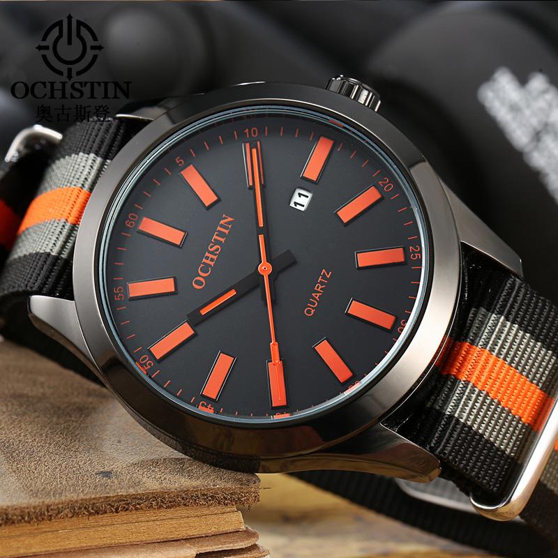 Prix pour Ochstin marque nouvelle mode casual homme mâle calendrier horloge militaire armée sport sangle en nylon de luxe élégant poignet quartz robe montre