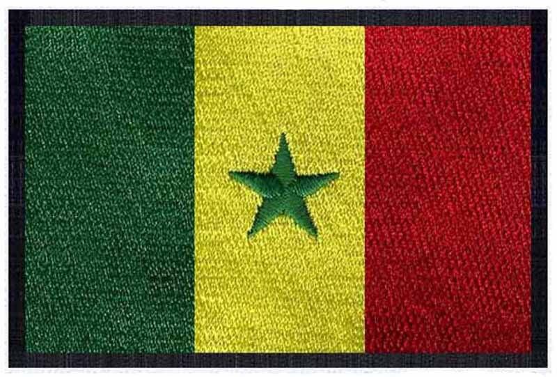 6f3fc47ea السنغال بقع والشعارات التطريز العلم 3 واسعة/التصحيح احترام/التطريز التصحيح  ملصقات/حقيبة