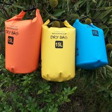 15L Outdoor Waterproof Bag Drifting 3 Color Portable River Rafting Hiking Backpack Large Capacity Storage Items