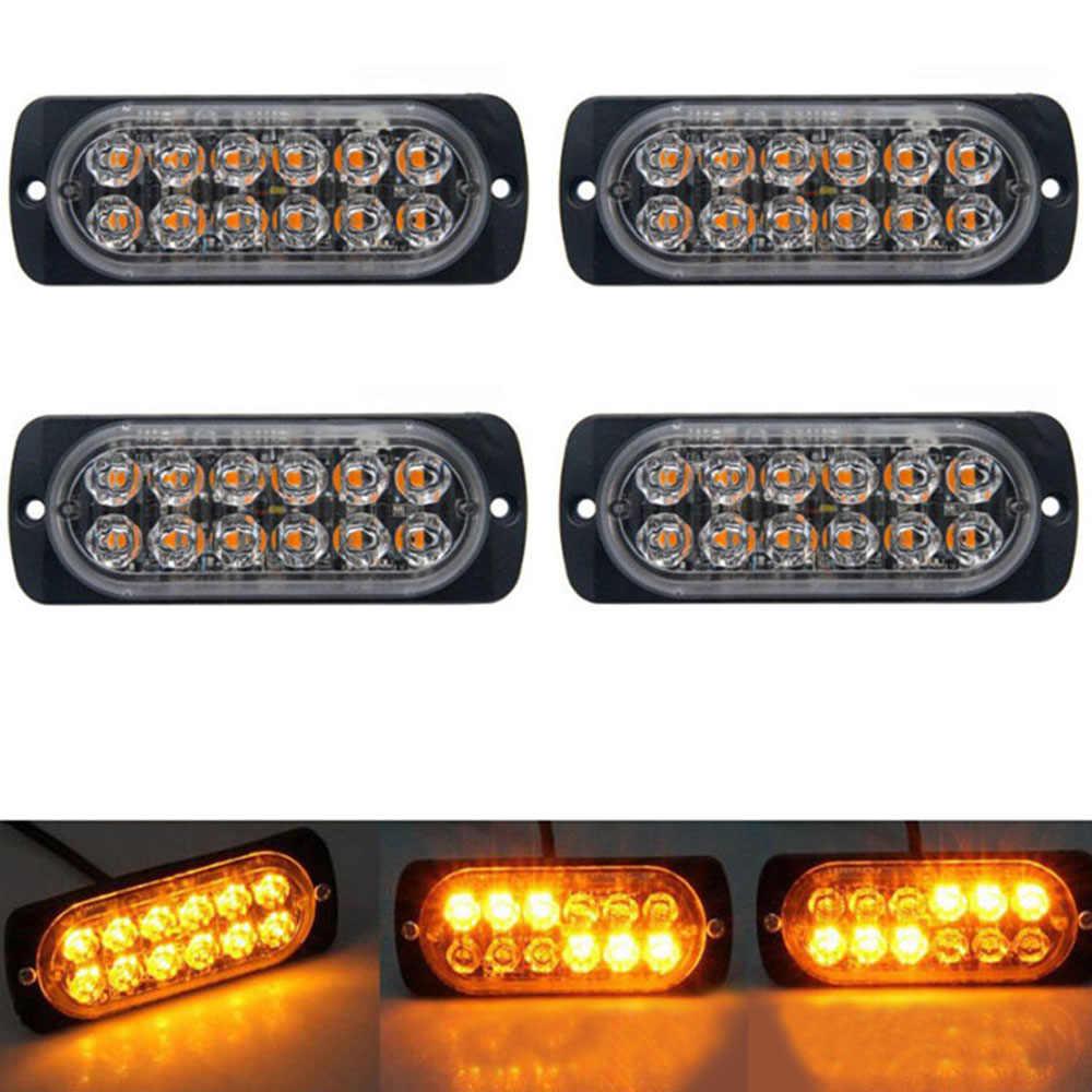 Ультратонкий автомобильный фонарь в сборе 36 Вт полицейские проблесковые огни на светодиодах 12 светодиодный аварийный для автомобиля грузовика боковой стробоскоп Автомобильная сигнальная лампа-Стайлинг