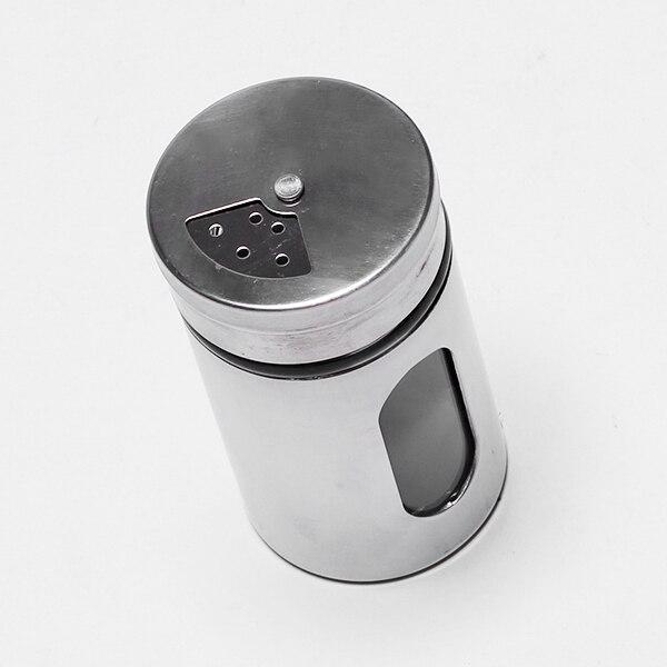 1pc Stainless Steel Multifunction Salt Pepper Shaker Seasonings