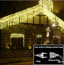Christmas Decoration 3.5m Droop 0.4-0.6m Curtain Icicle String Led Lights AC220V For Outdoor New Year Garden Xmas Wedding Party