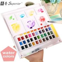Улучшенный 12 24 30 36 40 цветов пигмент Твердые акварельные краски s Набор цветные карандаши товары для рукоделия для рисования краски Водные Цвета