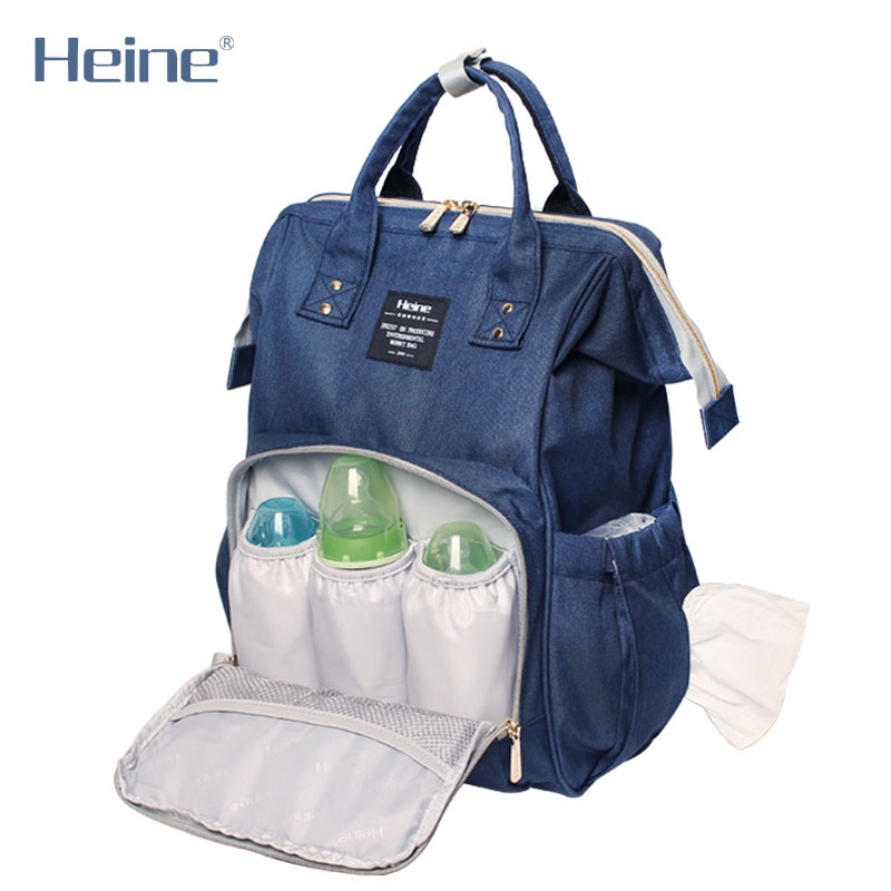 Heine Poliester duża torba na pieluchy dla niemowląt zmiana - Pieluchy i Trenowanie toalety - Zdjęcie 2