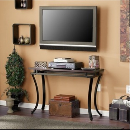 American modern wrought iron wood console table long table - Corner tables for living room online india ...