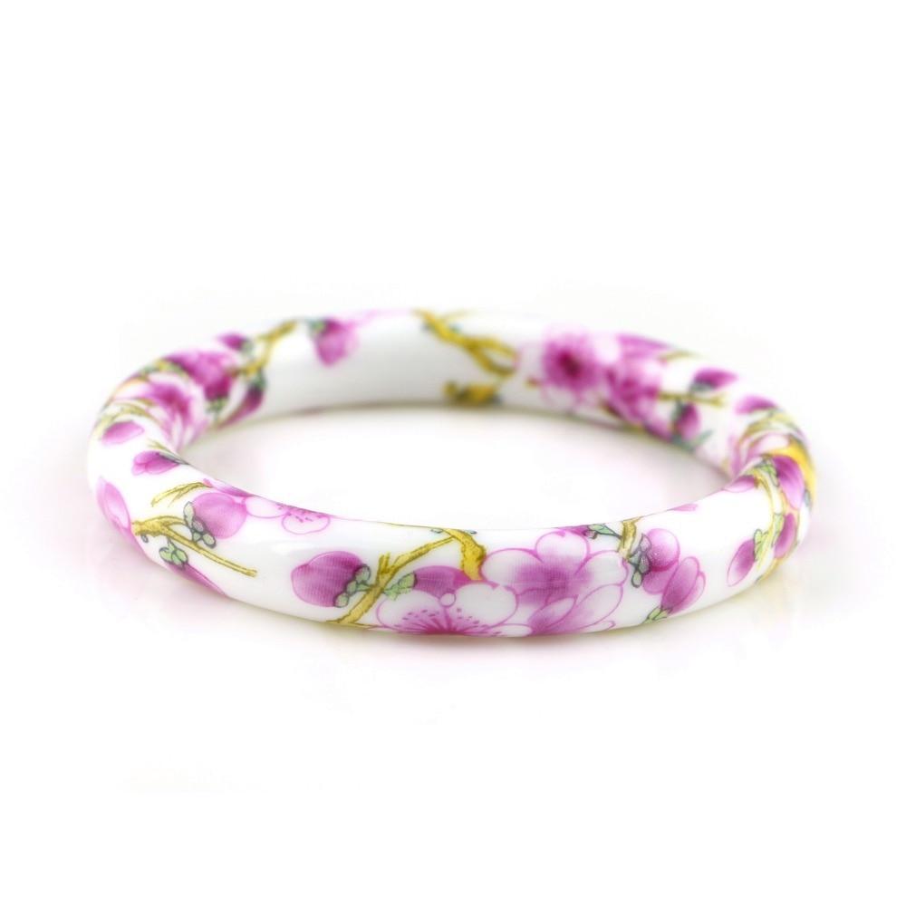 Novi modni dizajn vintage cvijet keramika narukvice kineski - Modni nakit - Foto 3