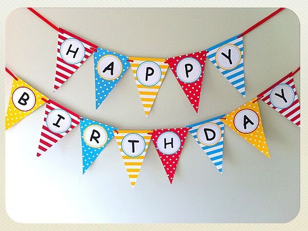 Banner Feliz Aniversario: Happy Birthday Banner Rainbow Birthday Party Decoration