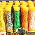 700pcs/1bottle 6mm bb gun ammos.mini hard plastic random colors ball with no hole pistol for bb sniper gun shot paintballs