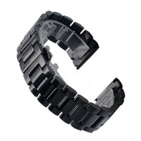Black Color 18 19 20 22 24 26 28mm Width High Quality Stainless Steel Watch Strap