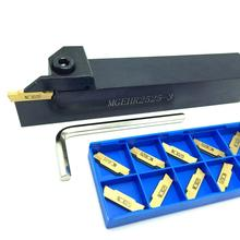 MGEHR1010 MGEHR1212 MGEHR1616 MGEHR2020 MGEHR2525 External Grooving Tool Holder Carbide Inserts Lathe Turning Parting Tool Set sclcr2020k09 95 degree external turning tool holder portaherramientas torno and lathe tool holder for carbide inserts