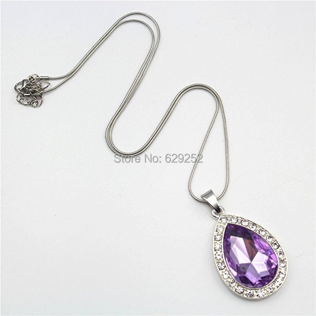 Amulet Teardrop Sofia The First Necklace Gift For Girls Baby Pandent Birthday Gifts