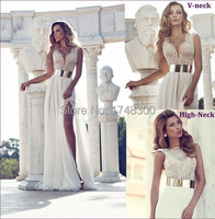 Surprise Hand Work Sexy All Over Beading Corset Two Style Neckline Optional Cap Sleeve Chiffon Evening