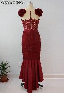Image 3 - Blush różowa koronka suknie dla druhen o kroju syreny 2020 afrykańska sukienka na formalną imprezę na herbata ślubna długość wysoki niski suknie Maid of Honor