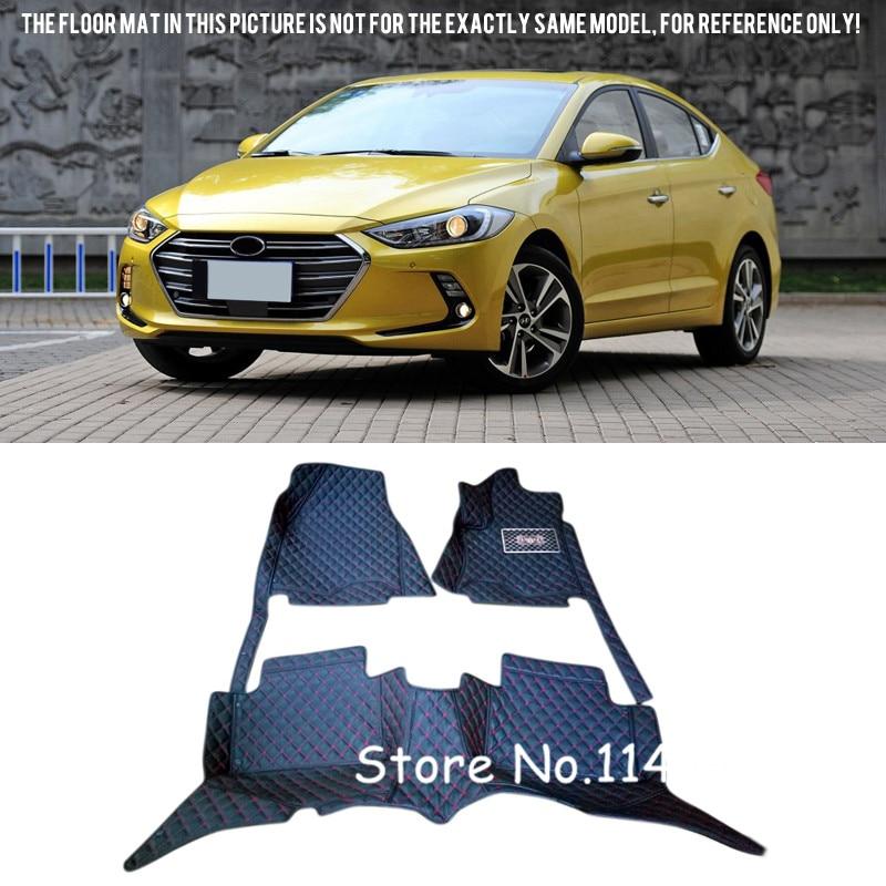 2016 2017 for Hyundai Elantra Avante Special Waterproof Auto Custom Car Floor Mats Carpet ветровики artway hyundai elantra avante 2016