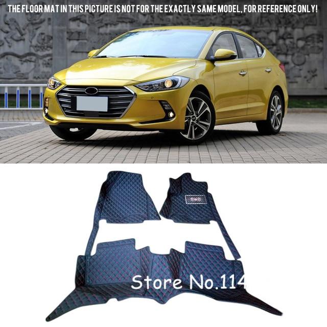 Delightful 2016 2017 For Hyundai Elantra Avante Special Waterproof Auto Custom Car  Floor Mats Carpet