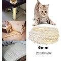 6 мм сизаль веревка для кошек Когтеточка для игрушек сделай сам стол для ног стул для ног Привязка веревка материал для кошки точилка коготь ...