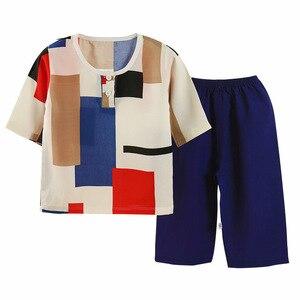 Комплект летней детской одежды, детская пижама с принтом, модный Удобный костюм для мальчиков и девочек