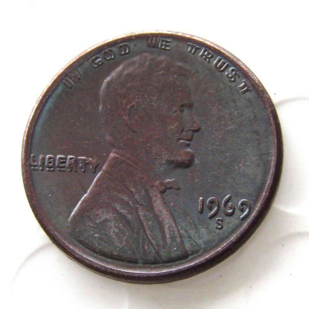 COPY REPLICA USA 1974 S,D Aluminum Lincoln Wheat Cent Penny