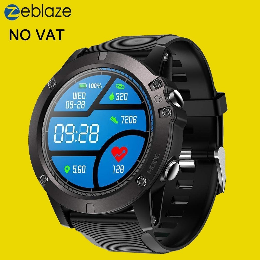 Zeblaze Vibe 3 Pro Smart Watch Men Real time Weather Optical Heart Rate Monitor All day