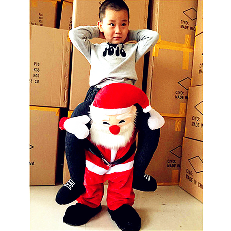 Children Inflatable Formal Dress Animal Christmas Santa Claus Cosplay Props Costume Halloween Christmas Gift L2674 adult christmas santa claus costumes flocking rabbit fur fancy cosplay santa claus clothes good quality costume christmas suit