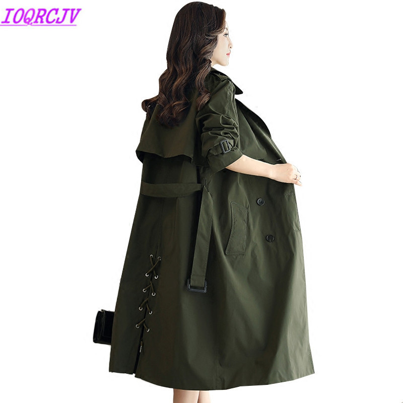 Long   Trench   Coat Spring Women Slim Outerwear 2018 New Fashion Loose Casual Tops Plus size Thin Windbreaker Coats IOQRCJV H161