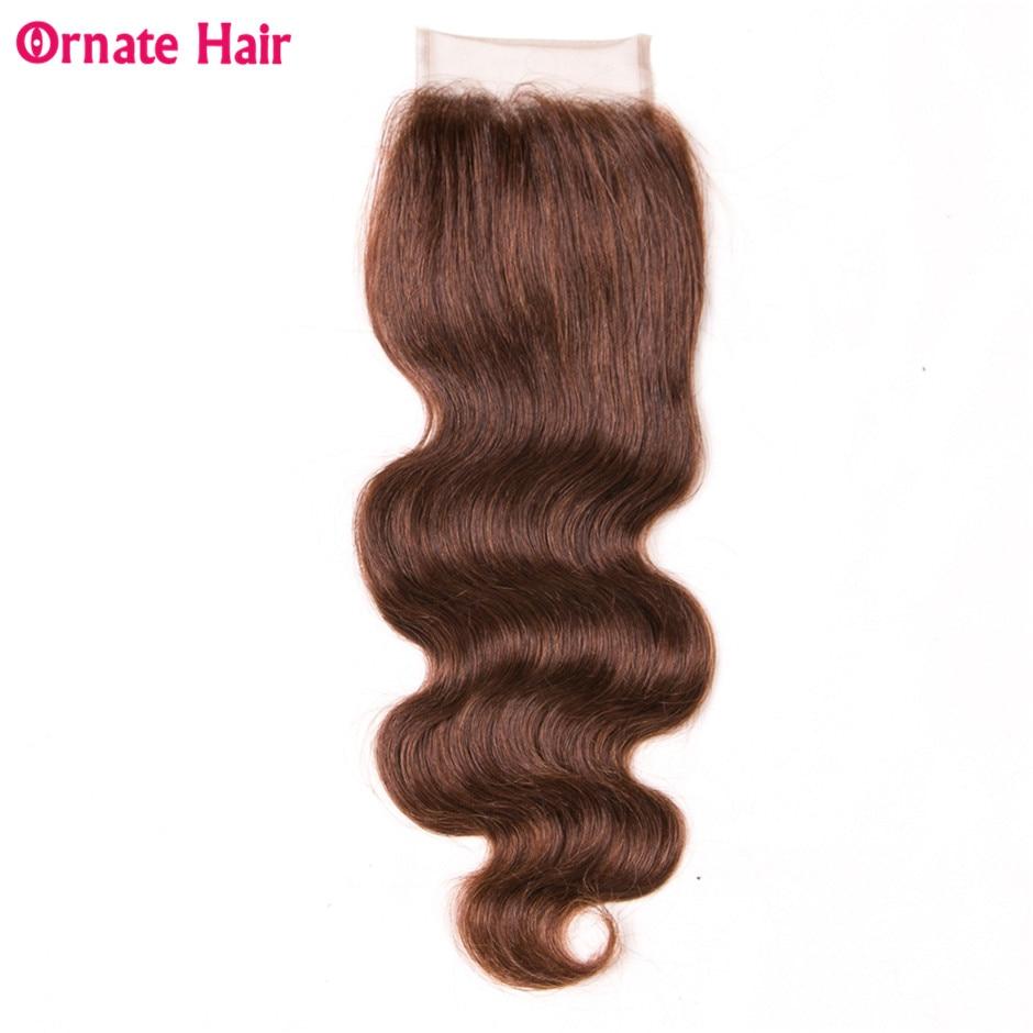 Ornate Lace Closure Brazilian Body Wave Human Hair Free