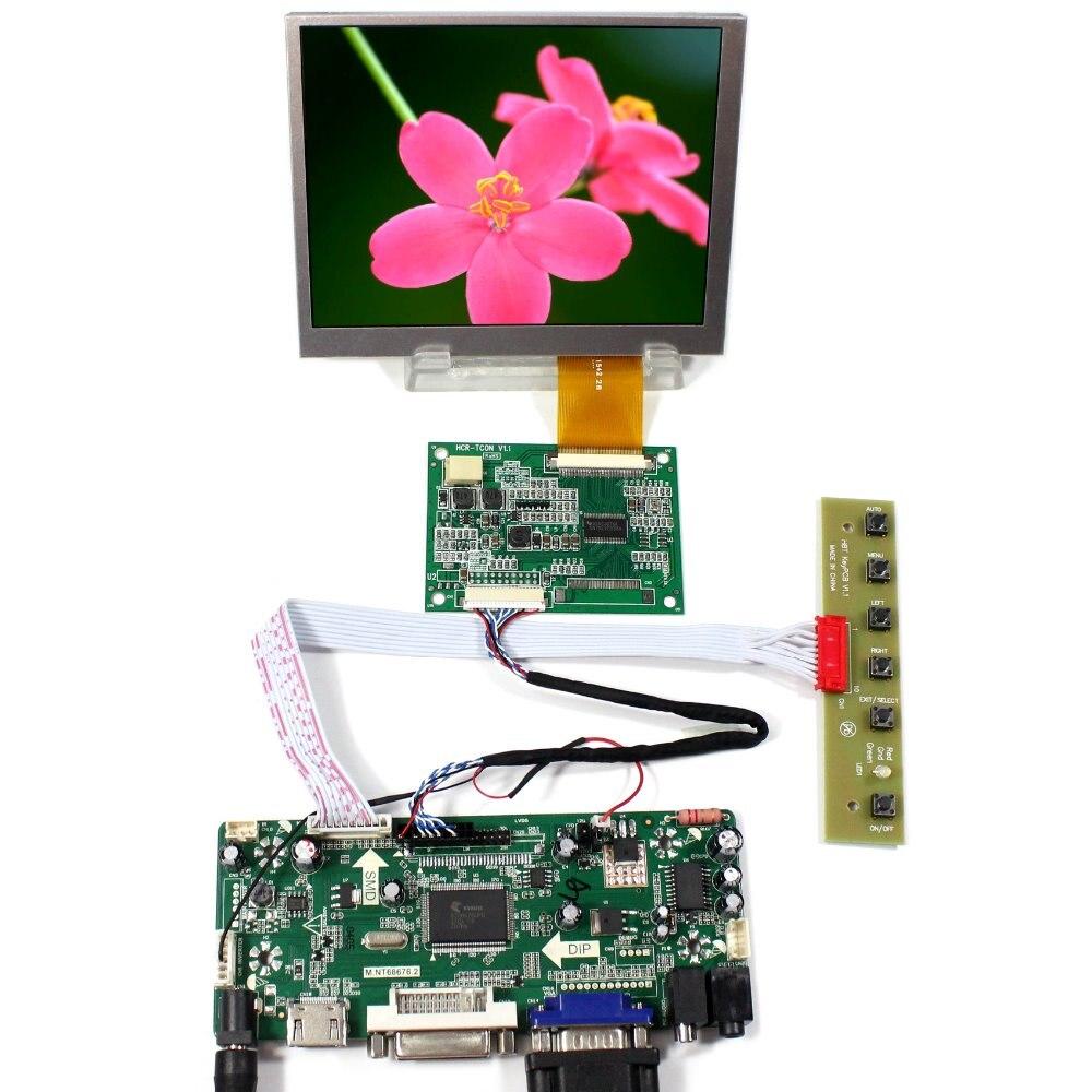 "HDMI DVI VGA Audio LCD Controller Board+5.6"" AT056TN52 640x480 LCD Screen"