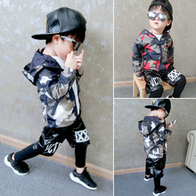 Children's clothing boy jacket spring and autumn new casual jacket long-sleeved printed hooded baby clothes 2-6 years long sleeved overalls suit male wear spring and autumn workshop factory clothes jacket auto repair clothing sanitation tooling l