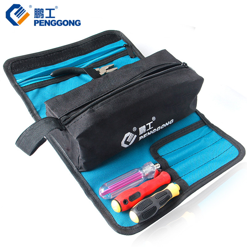Storage Tools Bag Reels Utility Bag Multifunction Oxford Canvas Electrical Package Waterproof With Carrying Handles oxford cloth durable waterproof tools container storage waist bag with belt electrical tools bag 24x20cm 9 45x7 87
