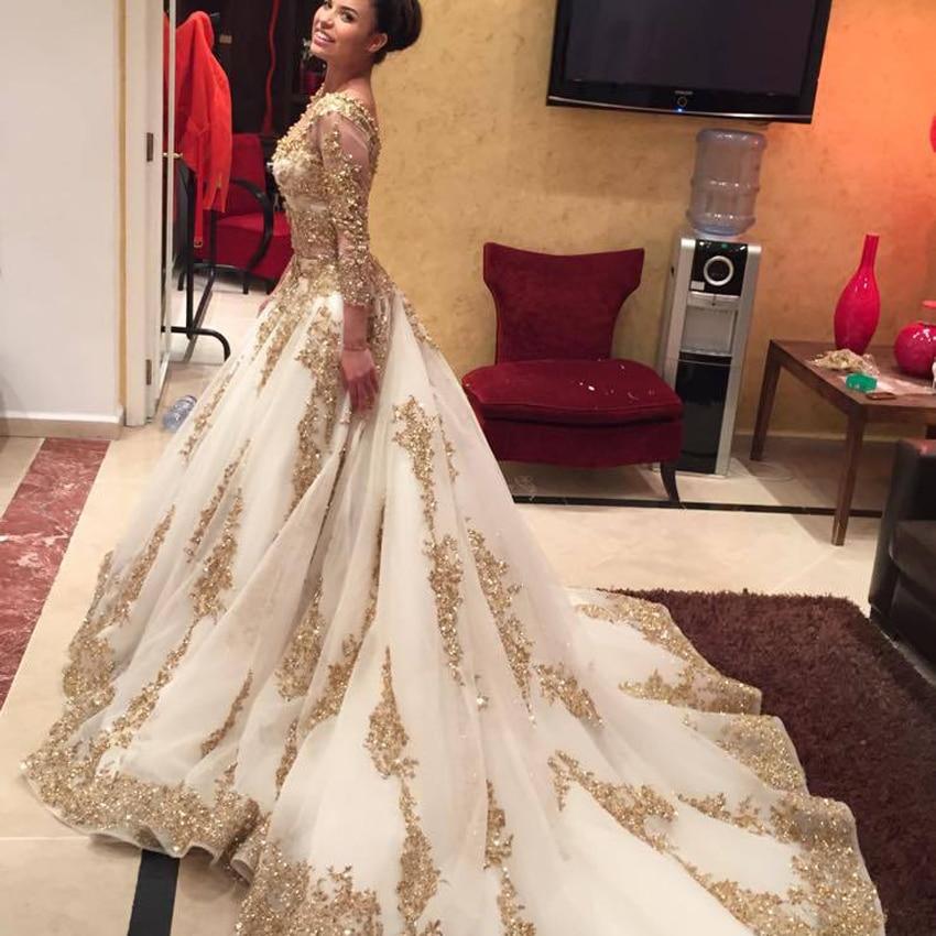 Popular Gold Wedding Dress Arabic-Buy Cheap Gold Wedding Dress ...