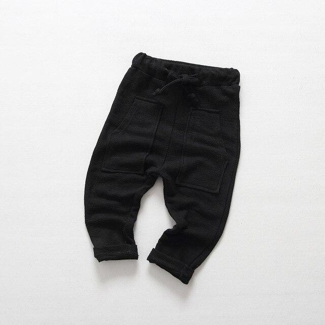 Осенью 2016 южнокорейских детская одежда для мужчин и женщин ребенок джокер большие мешковатые штаны карман детские повседневные брюки