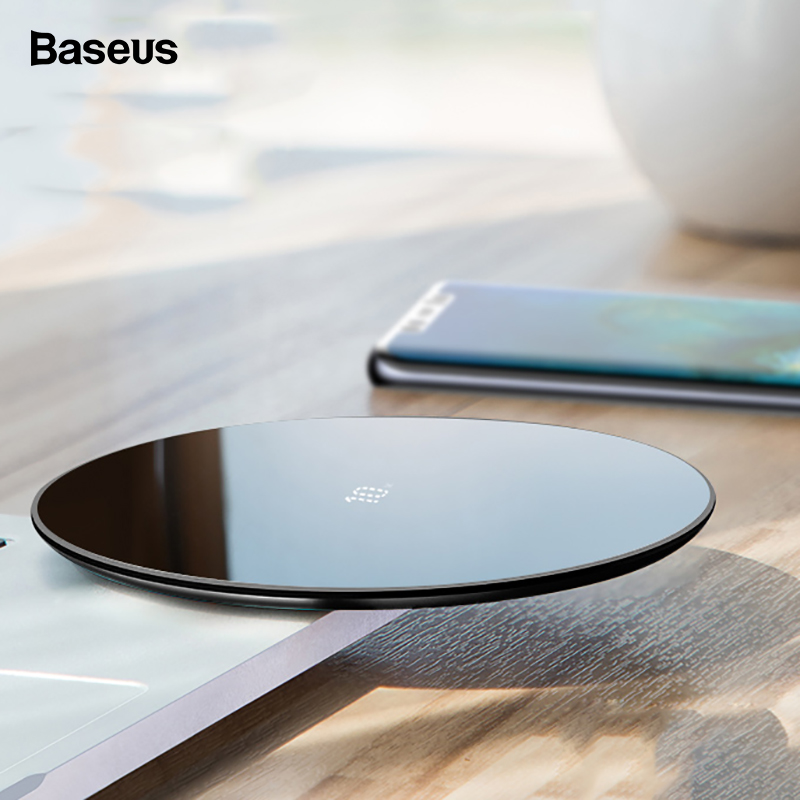 Baseus 10W Qi Wireless Charger For Huawei Mate 20 P30 Pro Fast Wirless Wireless Charging Pad For iPhone Xs Max X 8 Samsung S10(China)