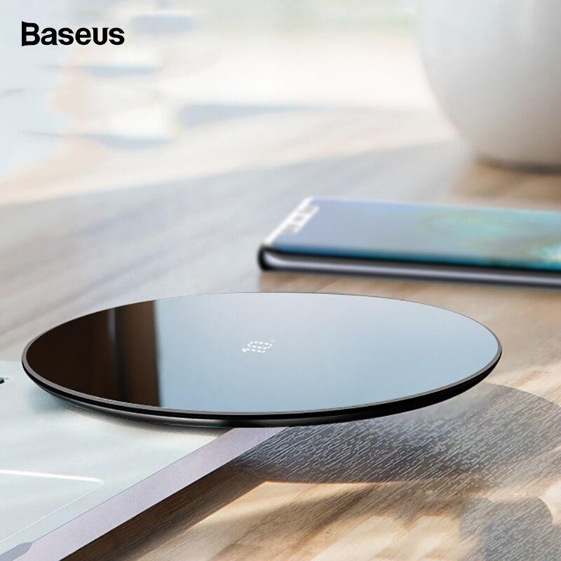 Baseus 10 W Qi Drahtlose Ladegerät Für Huawei Mate 20 Pro Glas Schnelle Wirless Wireless Charging Pad Für iPhone Xs max X 8 Samsung S10