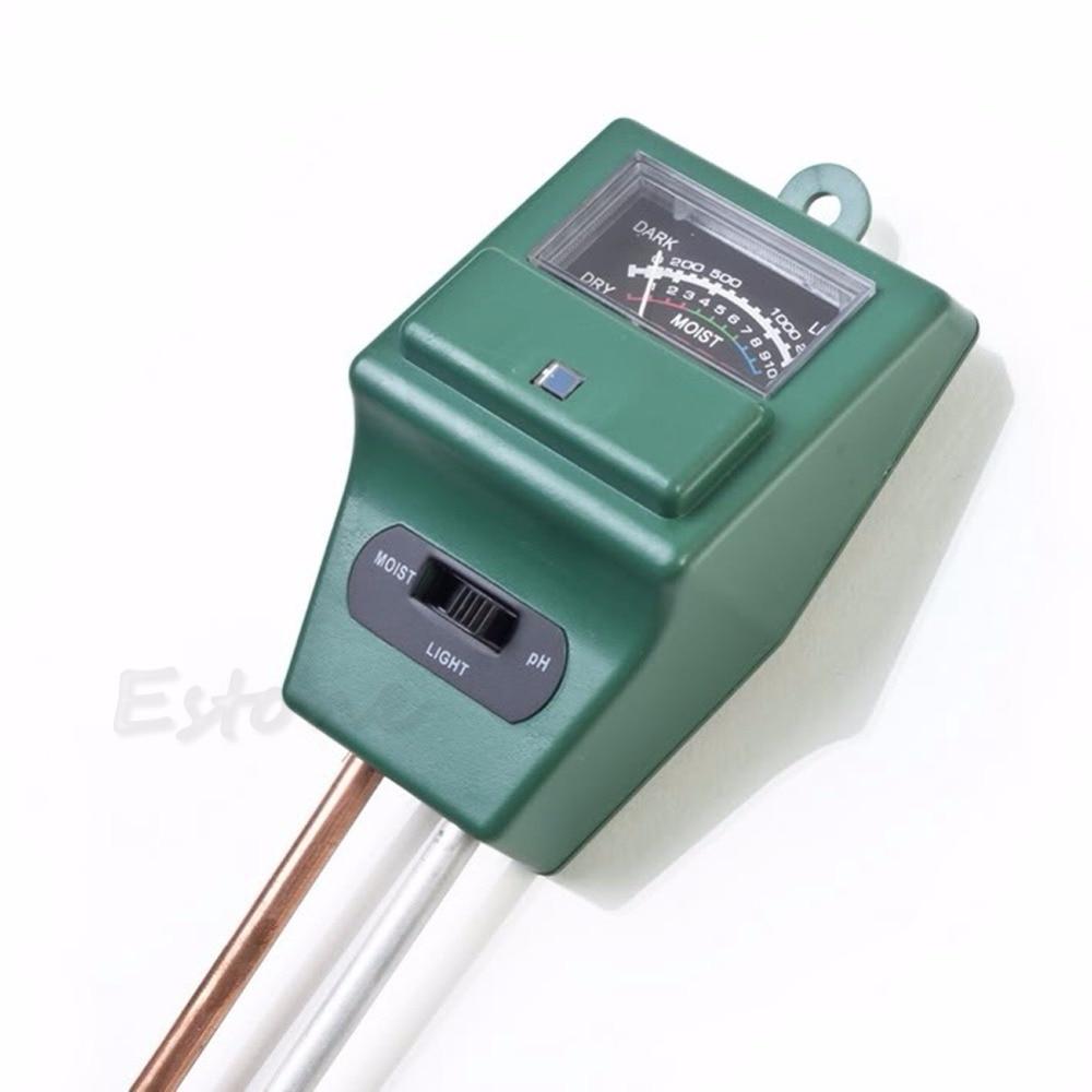 Gerade Boden Hygrometer 3 In 1 Ph Tester Boden Wasser Feuchtigkeit Licht Test Meter Für Garten Pflanze Blume Feuchtigkeit Meter